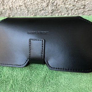 Saint Laurent Black Leather Sunglasses Case